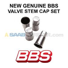 BBS METAL VALVE STEM COVER CAPS - SET OF 4 - NEW REAL GENUINE BBS 09.15.063