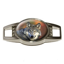 Gray Wolf with Fall Background - Shoe Sneaker Shoelace Charm