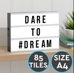 Pack Of 85 Light Box Letters For A4 Light Up Cinematic Box Display Plaque