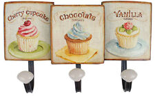 Shabby Cupcake Cup Cake Design Metal Coat Hooks Kitchen New
