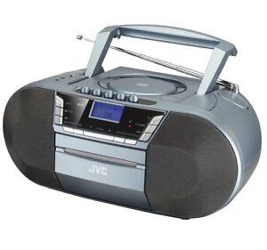 JVC RC-D327B WIRELESS BLUETOOTH DAB/FM BOOMBOX GREY CD CASSETTE PLAYER USB
