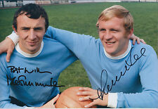 Mike SUMMERBEE & Francis Lee Double SIGNED COA Autograph 12x8 Photo AFTAL