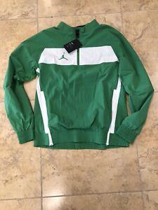 Nike Air Jordan Dri Fit 1/4 Zip Woven Jacket Green Men's Sizes SKU: CD2218-377