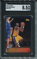 1996 Topps NBA 50 Basketball 138 Kobe Bryant Rookie Card Graded SGC NM Mint+ 8.5