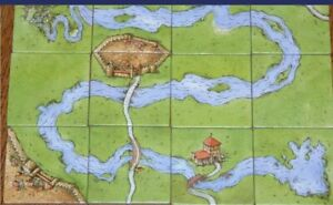 Carcassonne The River I Classic Old First Design 1st Edition (12 tiles)