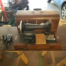 Vintage Kenmore Franklin Sewing Machine, Wooden Case, Manual, Foot Pedal