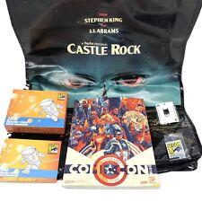 SDCC 2018 San Diego Comic Con 2018 Collectors Box Pin Book Hulu Bag Batman Pin