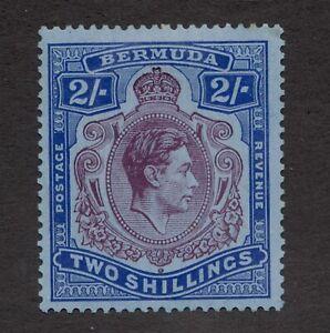 SG116A - Bermuda - 2/sh - George VI -1940 - MH - superfleas - cv £350