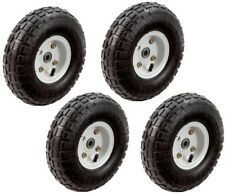 Hand Trucks Pneumatic Tires 10 in. Wheels Replacement Lawn Garden Carts 4 Pieces