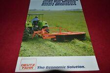 Deutz Fahr Mowers Dealer's Brochure BWPA