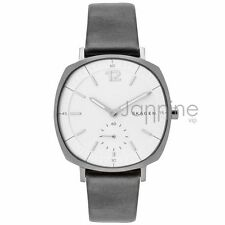 Skagen Authentic Watch SKW2403 Rungsted White Dial Black Leather Women's