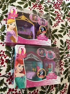 Disney Princess Rapunzel And  Ariel Flip n Switch Castle with MagiClip Doll