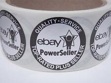 50 Ebay Top Rated Plus Seller Quality Service Seal Label circle matte silver