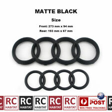 MATTE BLACK BADGE COMBO GRILLE & REAR AUDI RINGS FOR AUDI A3 S3 RS3 A4 S4 RS4