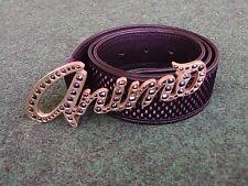 Animo Hannah Gold Belt Buckle & Leather Italian Belt Size 32/80 Equestrian Polo