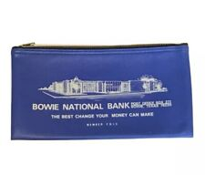 Bowie National Bank Bowie Texas Zippered Bank Bag