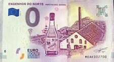 BILLET 0 EURO  ENGENHOS DO NORTE PORTUGAL 2018-2 NUMERO RADAR 2700