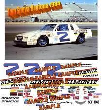 CD_1060 #2 Tom Sneva 1984 Simoniz Buick 1:64 Scale Decals  ~OVERSTOCK~