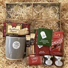 Male Birthday Get Well Teacher Gift Hamper Tea Coffee Mug Lindt Jam Biscuits