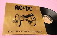 AC DC LP FOR THOSE ... ORIG GERMANY 1981 EX+ GATEFOLD ENBOSSED COVER