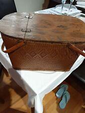 Vintage redmon picnic basket with insert shelf