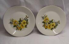 """2 x  Vintage J&G Meakin Studio 7"""" Floral Side Plates"""