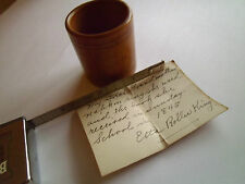 Antique Victorian Napkin Holder Wood from 1845 Note included Etta Roller King