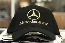 Mercedes-Benz Golf Cap Hat, black. Adjustable size with embroidered Gold logo!