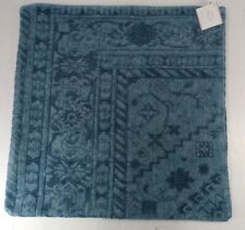 """Pottery Barn Romilly Embroidered Pillow Cover 22x 22"""" Denim Blue #9280"""
