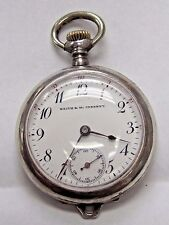 Antique Lds Sterling Open Face Case Pocket Watch 32mm, Keith and Mc Chesney
