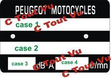 PLAQUE CADRE PEUGEOT MOTOCYCLES - VIN PLATE PEUGEOT MOTOCYCLES