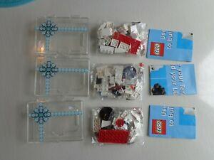 Three Target Lego Gift Card 2011 3 in 1 Sets Bullseye Dog Snowman Polar Bear