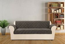 sure fit Textured Pique Sofa Furniture Cover DEEP GRAY NEW
