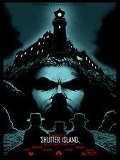 Shutter Island Glow in the Dark alt Movie Poster Joshua Hardie No./35 NT Mondo