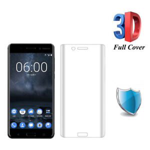 3D Curved Full Cover Screen Protector Tempered Glass Film Guard For Nokia 8S