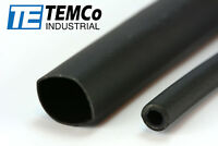 "2 Lot TEMCo 1/2"" Marine Heat Shrink Tube 3:1 Adhesive Glue Lined 4 ft BLACK"
