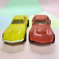 Vintage RARE 1970s Yellow & Red Tonka Toys Corvette Stingray From Transporter