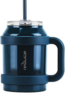 Reduce Tumbler, 50 Oz Â?? Stainless Steel Insulated Large Mug/ Straw, Lid