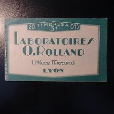 FRANCE CARNET N°189-C 2 ROLLAND LABORATOIRES NEUF ** LUXE MNH COTE 400€