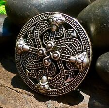 High Quality Celtic Viking Norse Silver Plate Brooch Shield Tribal Amulet
