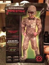 Desert Commando Operation Rapid Strike Classic Muscle Costume 10-12 Brand New