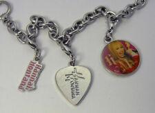 Disney Collectors Hannah Montana 3 Charms Toggle Link Disneyland Bracelet