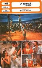 FICHE CINEMA : LA TUNIQUE - Burton,Simmons,Mature,Koster 1953 The Robe