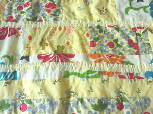 yellow cotton floral ready sewn patches ruffle patch clothing fabric 90cmX112cm