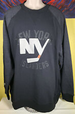 Men's CCM NHL New York Islanders Hockey Fleece Crew Sweatshirt Size 2XL Black