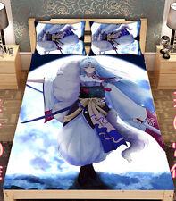 Bed sheet Anime Sesshoumaru Inuyasha Throw Blanket Coverlet Bedding 150*200CM