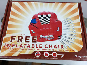Snap On Inflatable Racing Chair Brand New In Box
