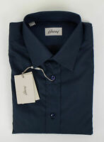 NIB BRIONI Blue Cotton Slim Fit Dress Shirt Size Small $595