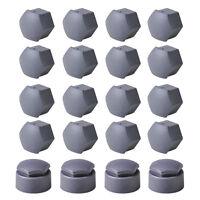 20 Stück Radschraubenkappen Radschrauben Kappen für VW Audi Skoda 17mm Grau