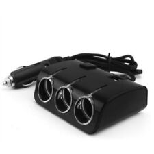 3Way Multi Car Cigarette Lighter Socket Extension Splitter Charger Dual USB Port